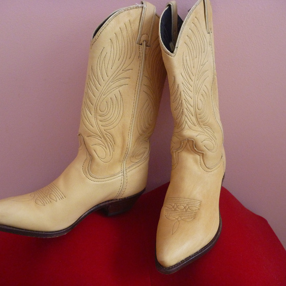 Code West Shoes - USA Western Women Boot 7 Tooled Leather Cowboy